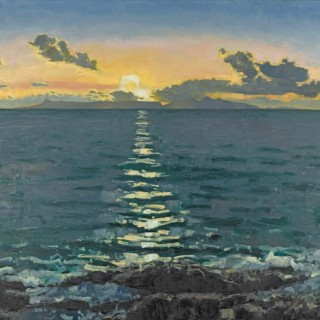 'Sunset' by contemporary Scottish artist Charles Simpson