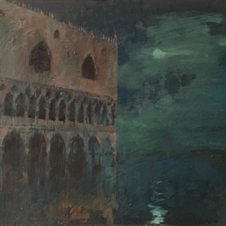 'Moonlight After Rain, St. Marks' by British artist Michael Hyam