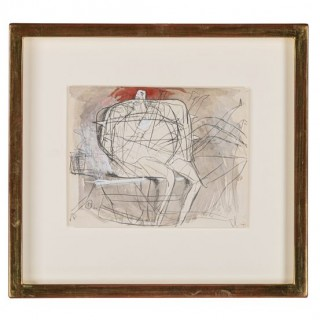 DRAWING FOR SCULPTURE (ARMED FIGURE) - Bernard Meadows 1915-2005