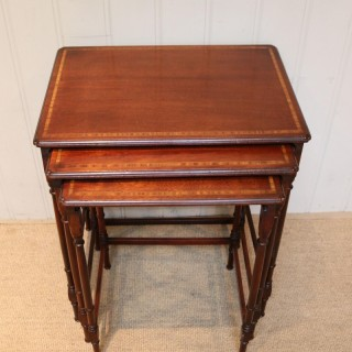 Mahogany Nest Of Three Tables