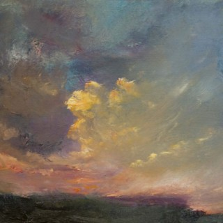 'Listening to the curlews before dark (North Yorkshire)' by Oona Campbell