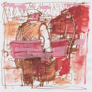 'Man with Boat' by John Boyd  RP RGI (1940-2001)