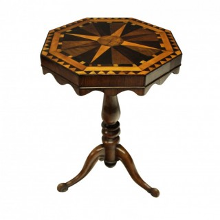 AN ENGLISH MARQUETRY SIDE TABLE
