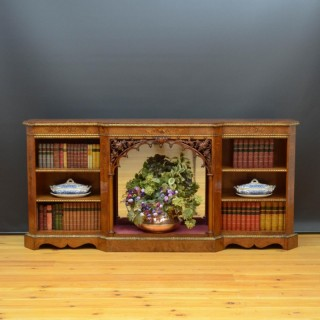 Victorian Low Bookcase in Walnut