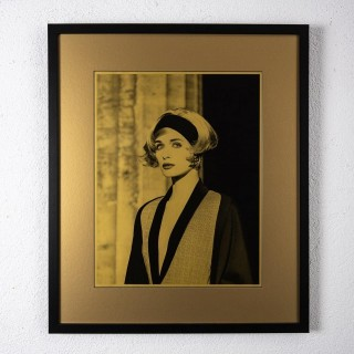 Original photograph of Linda Evangelista in gold by Karl Lagerfeld