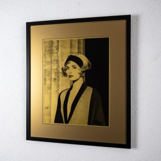 Original photograph of Linda Evangelista in gold by Karl Lagerfeld