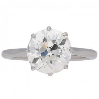 Edwardian diamond solitaire ring, English, circa 1910.