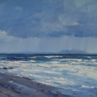 'Rain over Arran' by Scottish artist Helen Turner