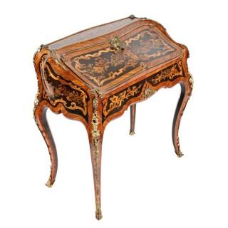 Louis XV Style Marquetry Bureau en Pente