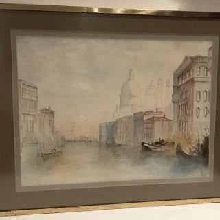 Large Nineteenth Century Watercolour of Venice