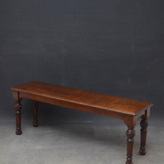 Victorian Reformed Gothic Oak Hall Bench