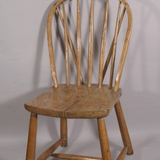 Antique Early 19th Century West Country Windsor Side Chair