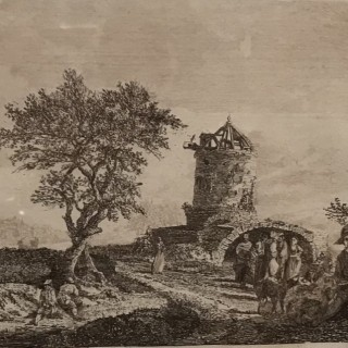 Paul Sandby Sepia Etching