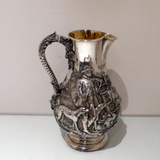 Antique Victorian Sterling Silver Large Jug London 1872 Robert Hennell