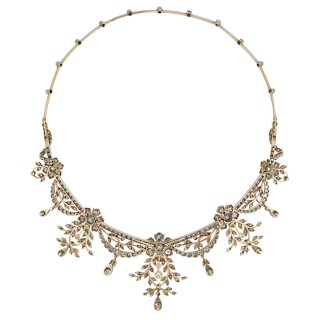 A late Victorian diamond-set tiara of floral design