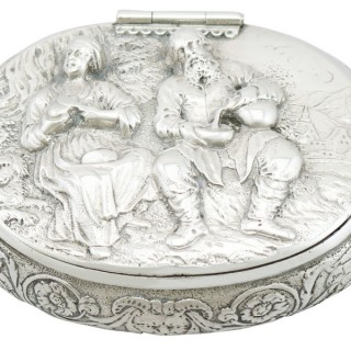 Dutch Silver Tobacco Box - Antique Circa 1690