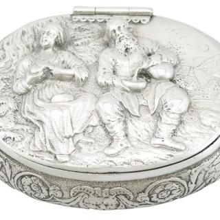 Dutch Silver Tobacco Box - Antique Circa 1690