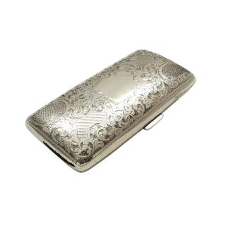Antique Edwardian Sterling Silver Cigar Case 1904
