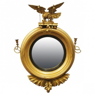 Large Regency Gilt Girandole Mirror