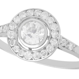 0.63 ct Diamond and Platinum Cluster Ring - Antique Circa 1925