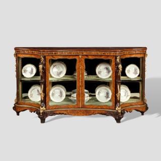 A Lavish English Display Cabinet