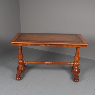 Pair of Victorian Satin Birch Library Tables