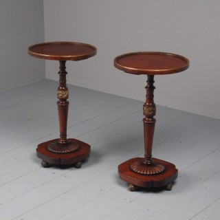 Pair of Regency Mahogany Circular Wine Tables