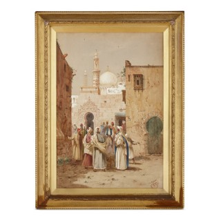 Figurative 19th Century Orientalist watercolour painting by Henry Stanton Lynton