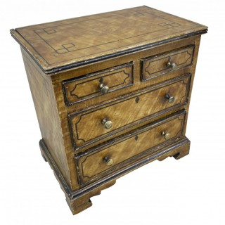 19th Century Painted Pine Miniature Chest