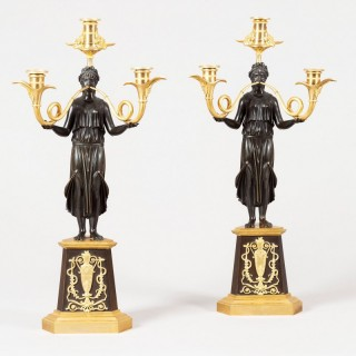A Pair of Empire Period Candelabra