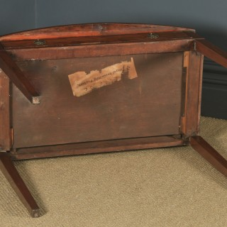 Antique English Georgian Regency Style Flame Mahogany Bow Front Side / Writing Table (Circa 1910)