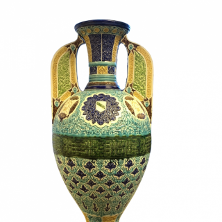A FINE 19TH CENTURY ALHAMBRA-STYLE VASE
