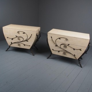 Pair of Fossilized Stone Chests of Drawers