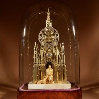 Scottish Interest Historically Interesting Sir Walter Scott Skeleton Clock.