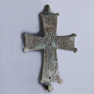 Byzantine Enkolpion Cross Fragment