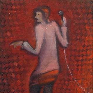 '1,2,123 (Karaoke Singer)' by Scottish artist Willie Rodger RSA  (1930-2018)