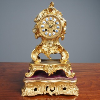 Louis XV Style Ormolu Mantel Clock by Raingo, Paris