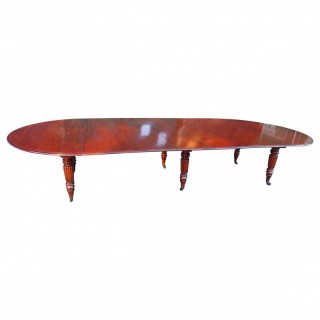 Large George IV Mahogany Dining Table by M. Willson, London