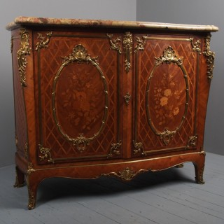 French Victorian Marble Top Commode by G. Durand
