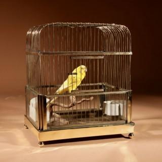 A Brass Very Decorative Bird Cage Circa 1920