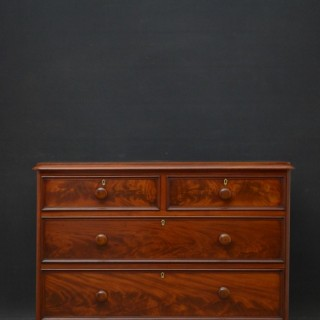 Victorian Mahogany Low Chest of Drawers