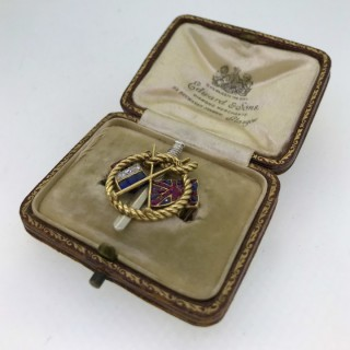 Antique Allegiance Brooch