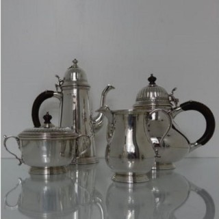 Modern 20th Century Sterling Silver Tea & Coffee Set London 1968 Richard Comyns
