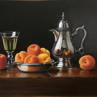 Silver Jug with Apricots