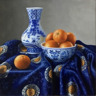 Chinese Porcelain with Clementines