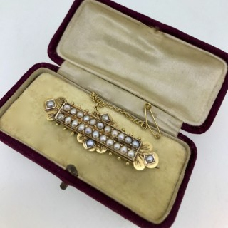 Victorian Gold and Pearl Brooch