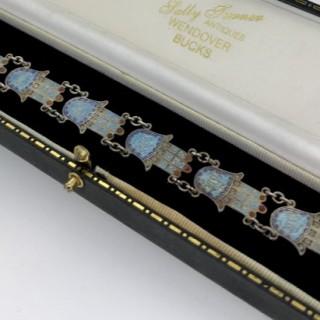Egyptian Silver and Enamel Bracelet