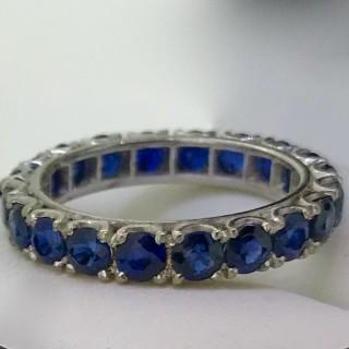 Platinum and Sapphire Eternity Ring