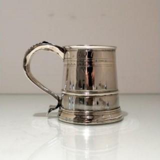 Early 18th Century Antique Queen Anne Britannia Silver Mug London 1707 Timothy Ley