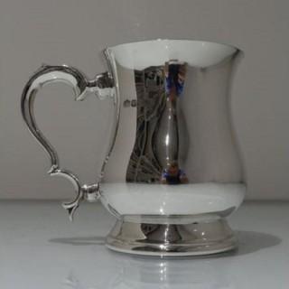20th Century Modern Sterling Silver Pint Mug Birmingham 1997 Elkington & Co